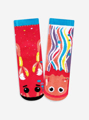 Crab & Jellyfish | Kids & Adult Socks | Mismatched Crazy Fun Socks