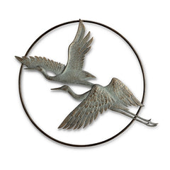 Herons in Flight Garden Wall Hanging