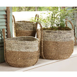 Two-Tone Seagrass Basket