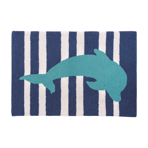 Striped Dolphin Rug