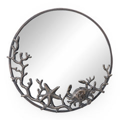 Starfish and Crab Wall Mirror