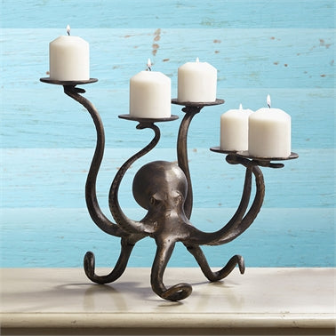 Octopus Pillar Candelabra