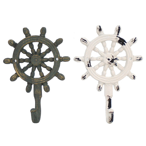 Ships Wheel Cast Iron Hook