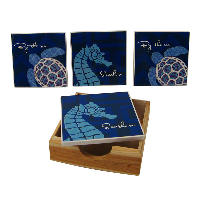 Sea Turtle Coaster Set