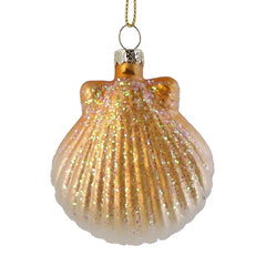 SCALLOP SHELL CHRISTMAS ORNAMENT