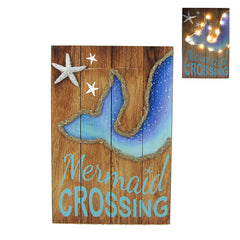 Mermaid Crossing Plaque