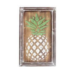 Carved Pineapple Wall Plaque - 24