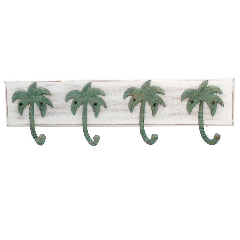 Palm Tree Wall Hook Plaque - 24.25""