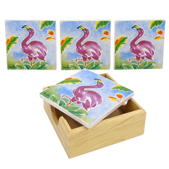 Flamingo Coaster Set