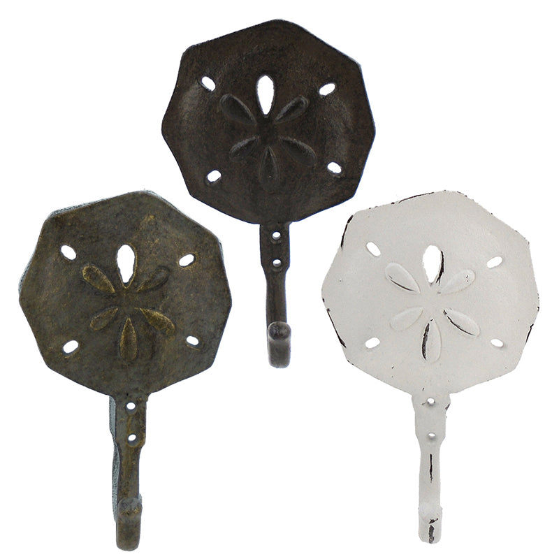 Cast Iron Sand Dollar Wall Hook