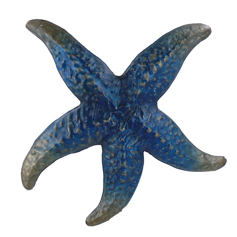 Blue Metal Starfish Wall Art