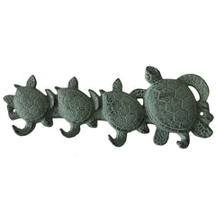 Cast Iron Turtle Family Wall Hook