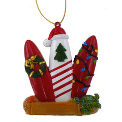 SURF BOARD TRIO CHRISTMAS ORNAMENT