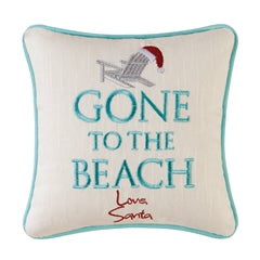 Gone To The Beach Christmas Throw Pillow