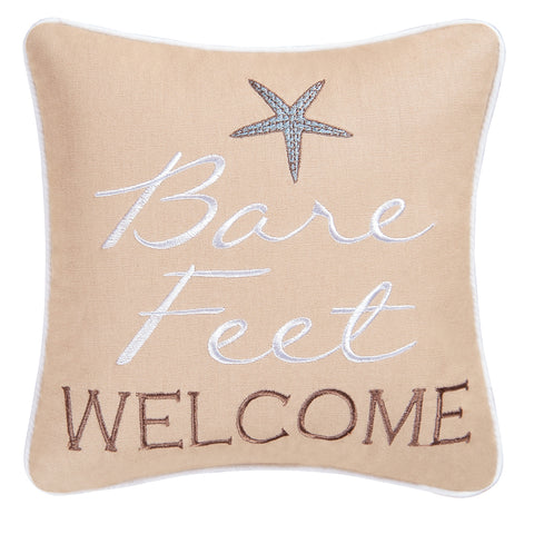 Bare Feet Welcome Pillow