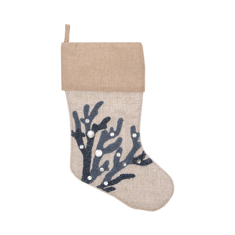 Coral Reef Indigo Stocking