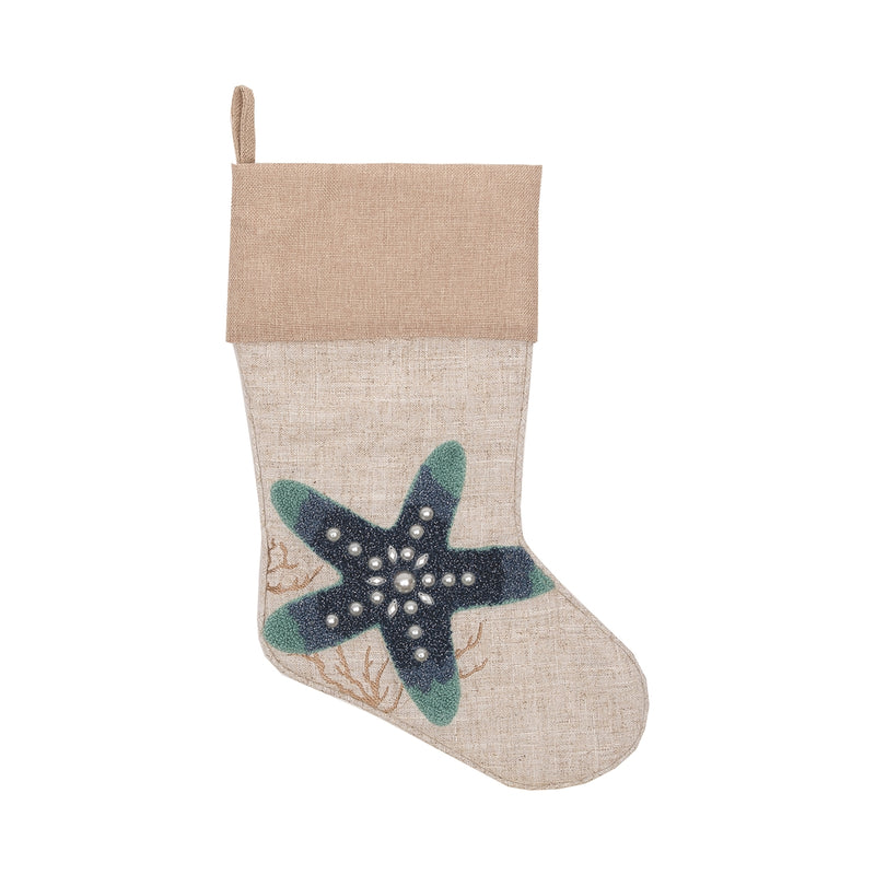 Starfish Indigo Stocking