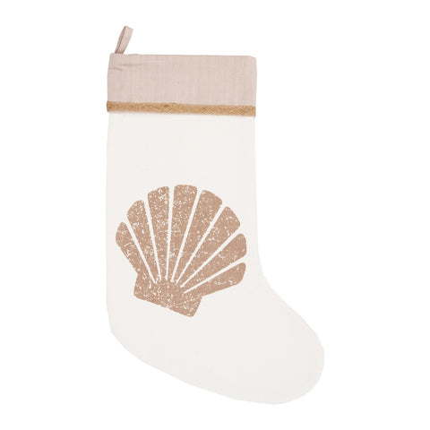 By The Sea Shell Christmas Stocking