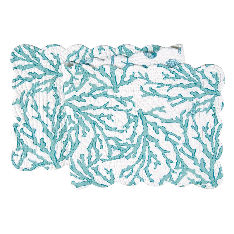 Coral Blue Table Runner