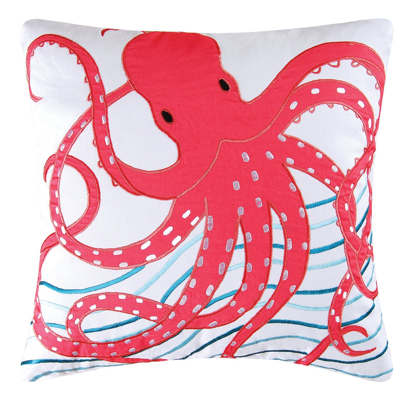 Pink Octopus Pillow