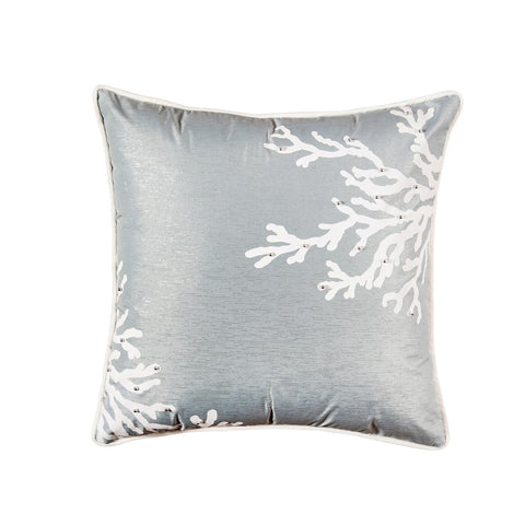 Blue Coral Square Pillow