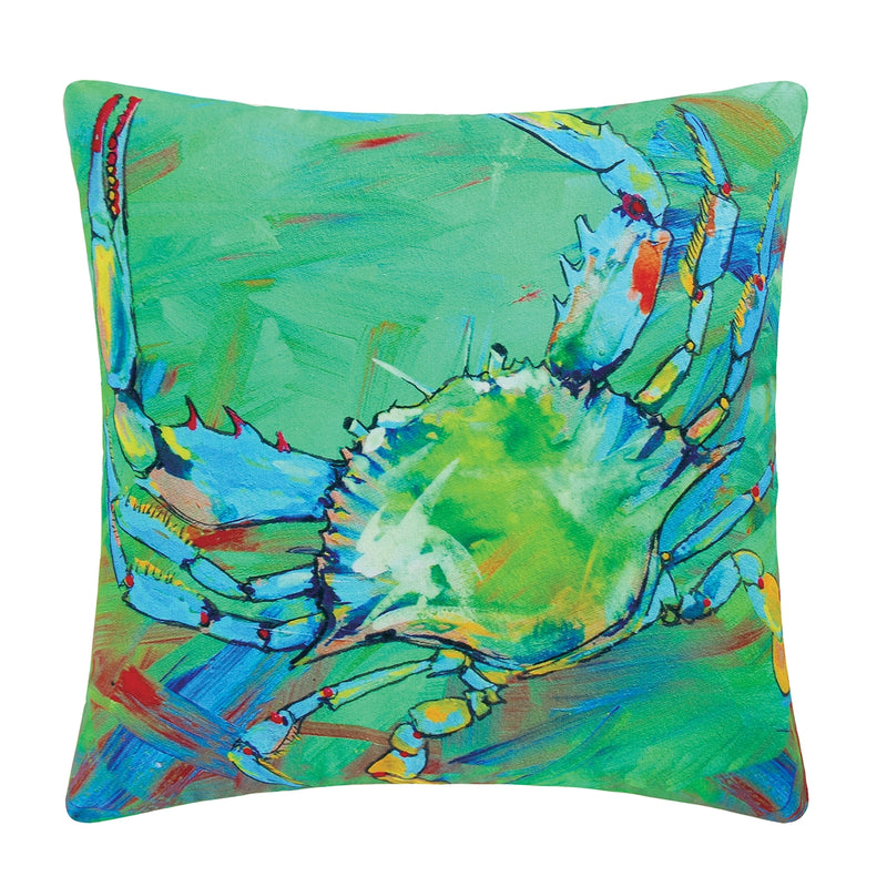Underwater Blue Crab Pillow