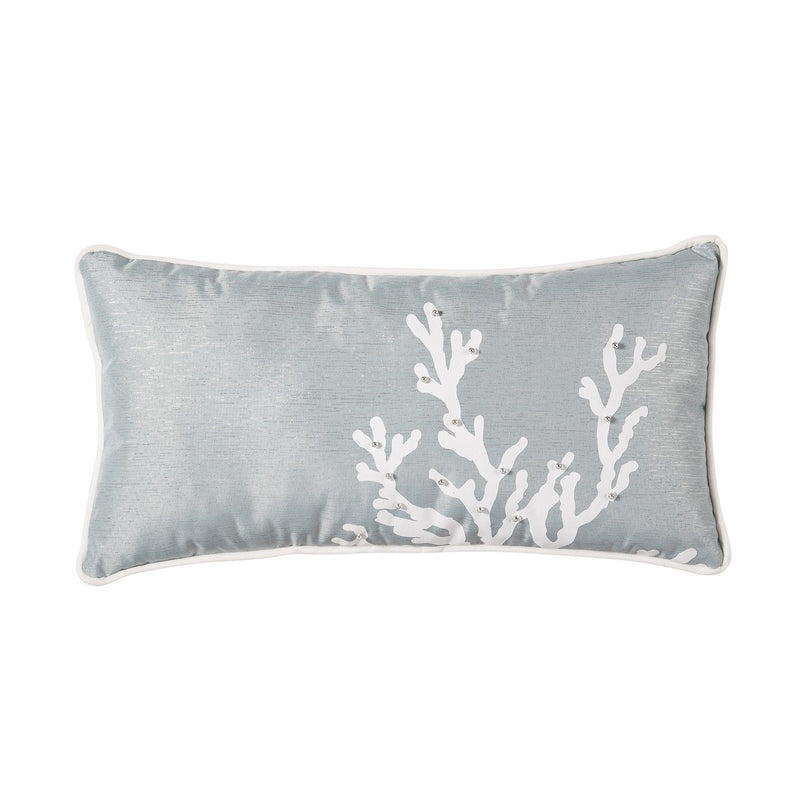 Blue Coral Oblong Pillow