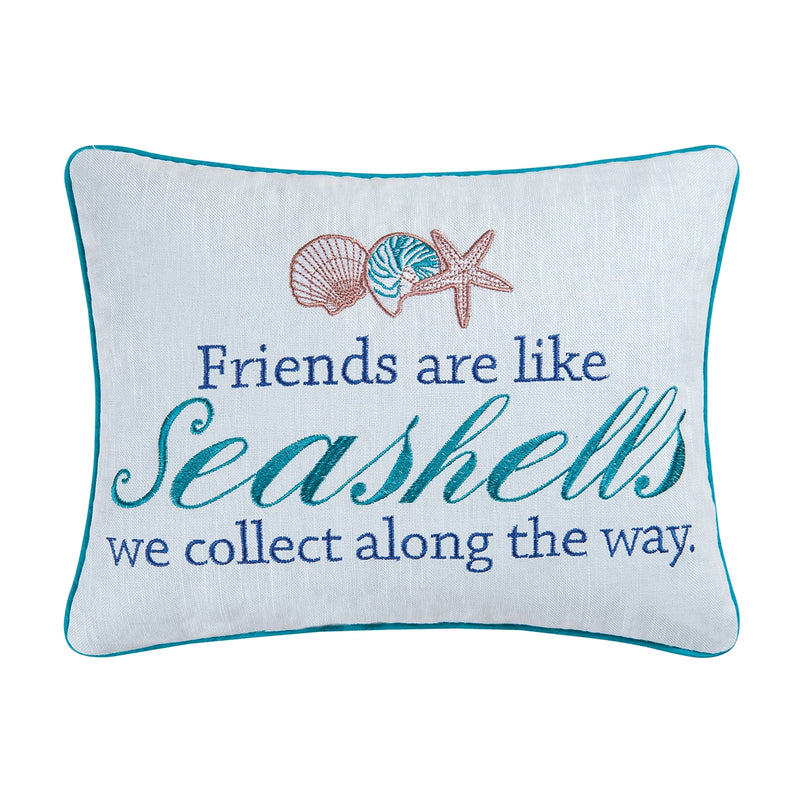 Friends are Like Seashells Pillow