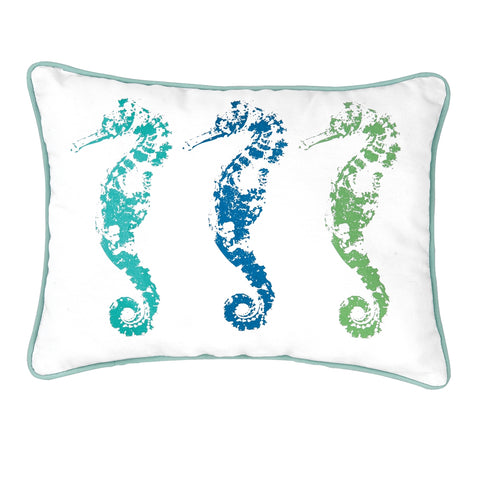 3 Seahorses Pillow