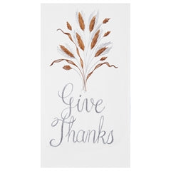 Embroidered Give Thanks Hand Towel