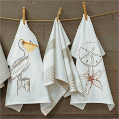 Embroidered Coastal Hand Towels- Assorted Designs