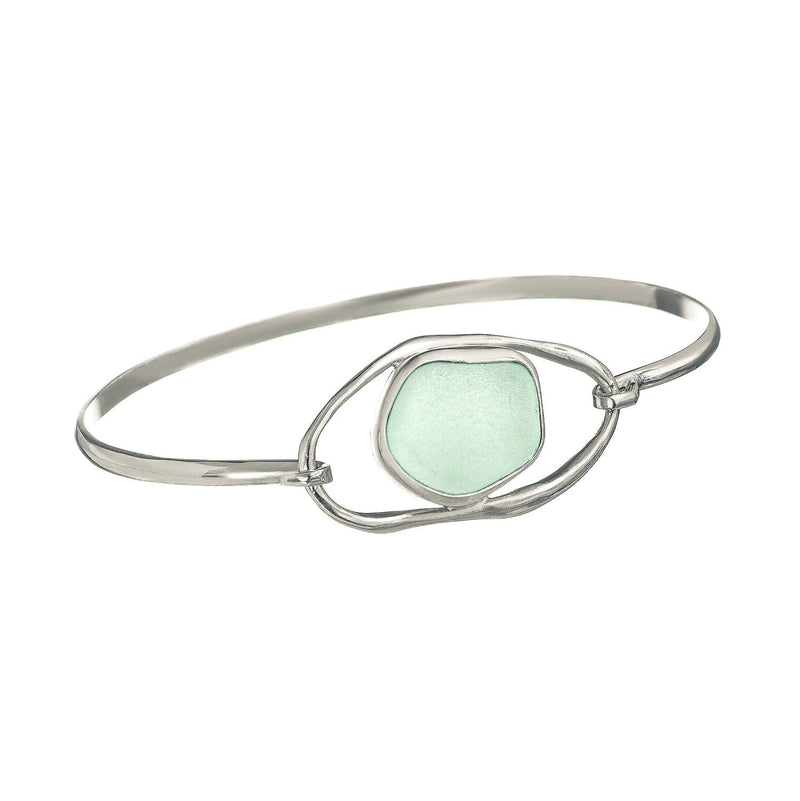 Sea Glass Bracelet Lagoon , Soft Green-Blue