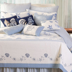 Treasures By The Sea Blue Twin Quilt