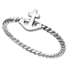 Sterling Silver Anchor Ring