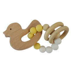 Baby Cup, Plate, Bowl, Bib & Teether Set - Duck