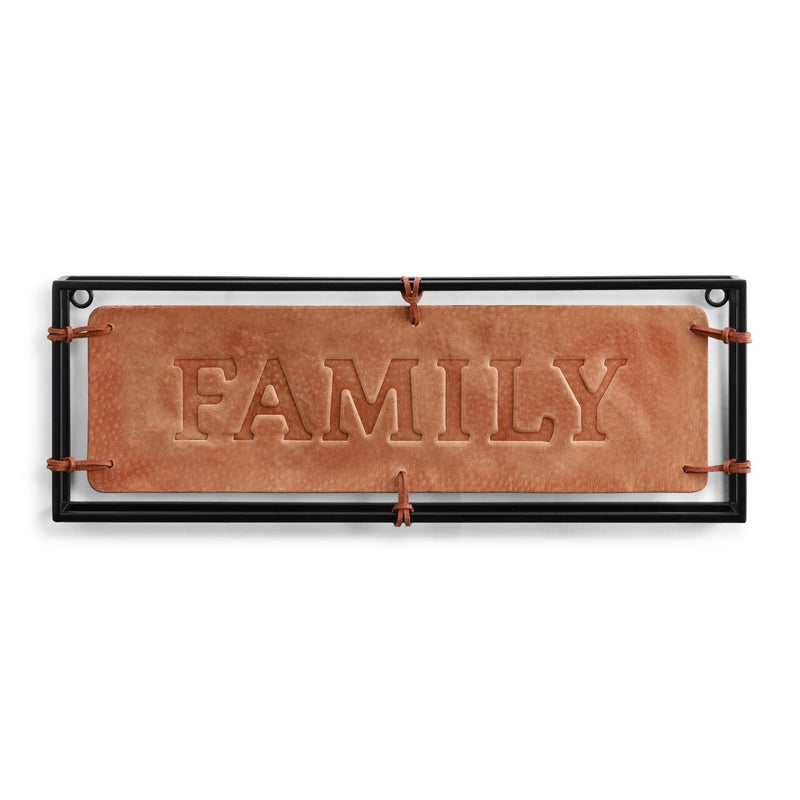 Family Leather Wall Art