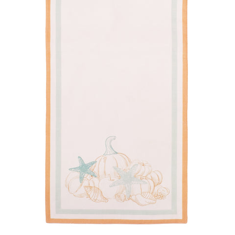 Give Thanks Table Runner Holiday Dish Decorative Kitchen Dining Towels Thanks Thanksgiving Holiday Decor Beach Seashell Pumpkin