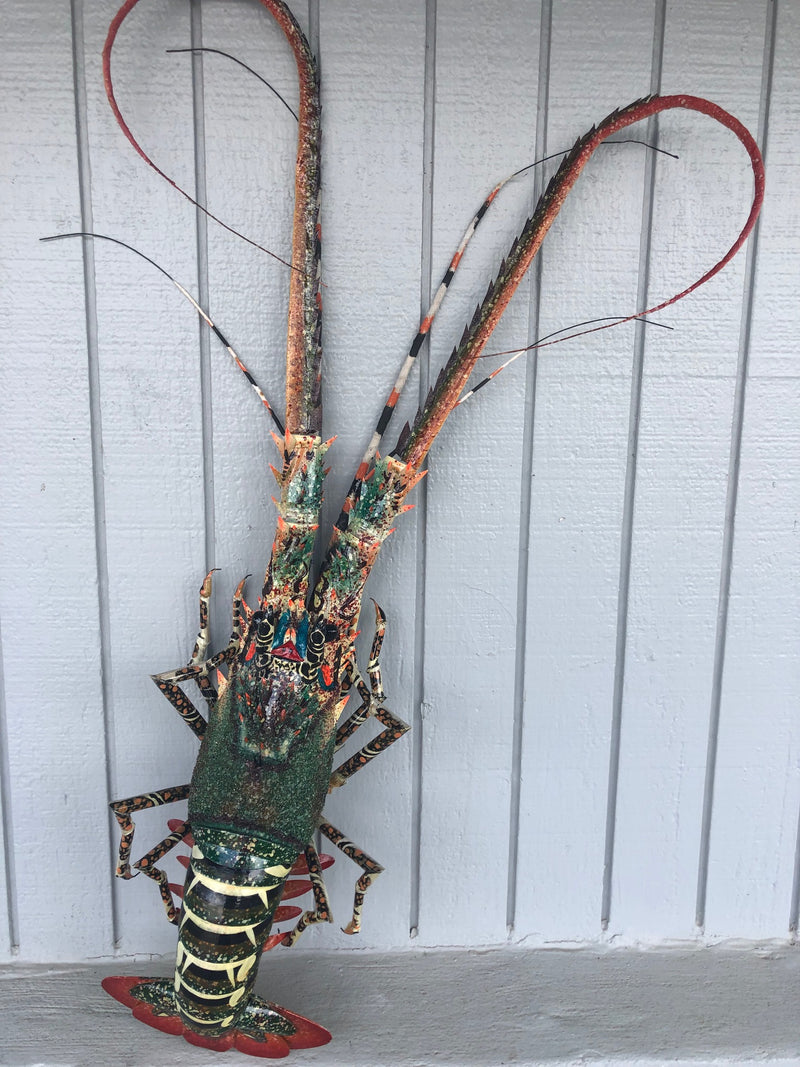 Decorative Painted Hanging Bamboo Lobster