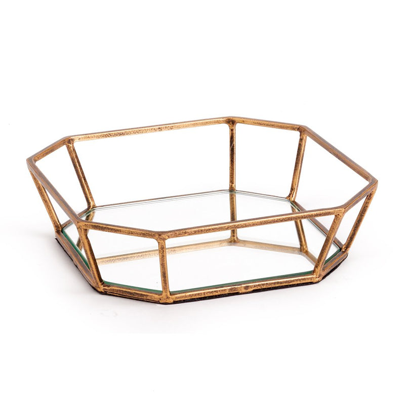 Oak Park Mirrored Cocktail Napkin Tray