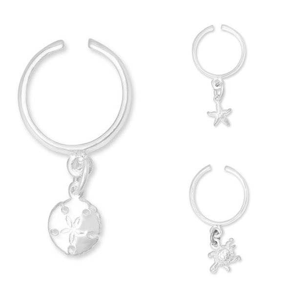 Sterling Silver Dangle Toe Rings