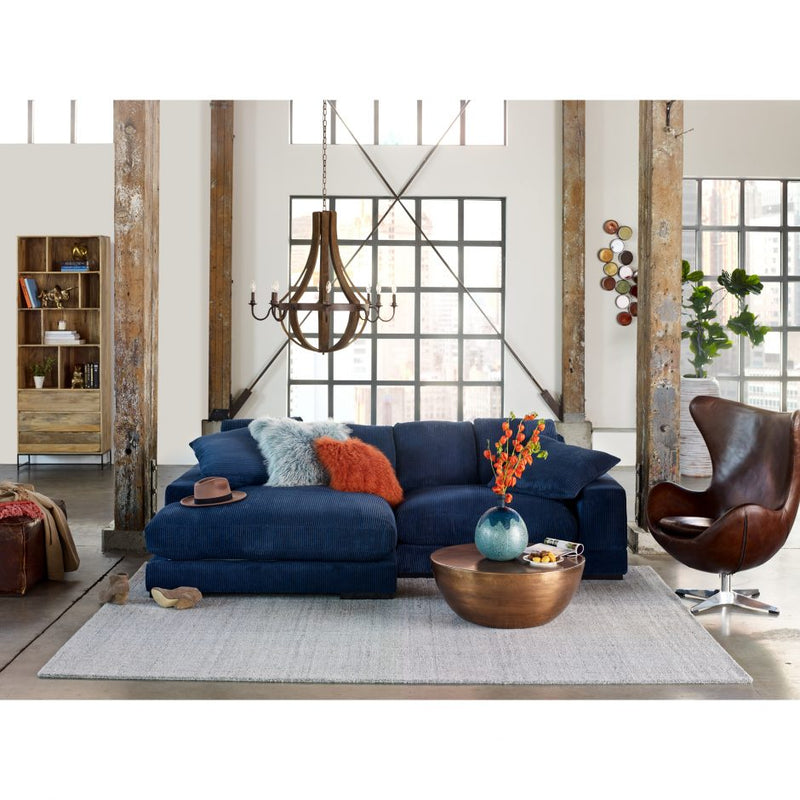 Plunge Sectional in Navy