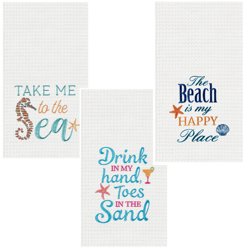 Beachy Sayings Kitchen Tea Towel