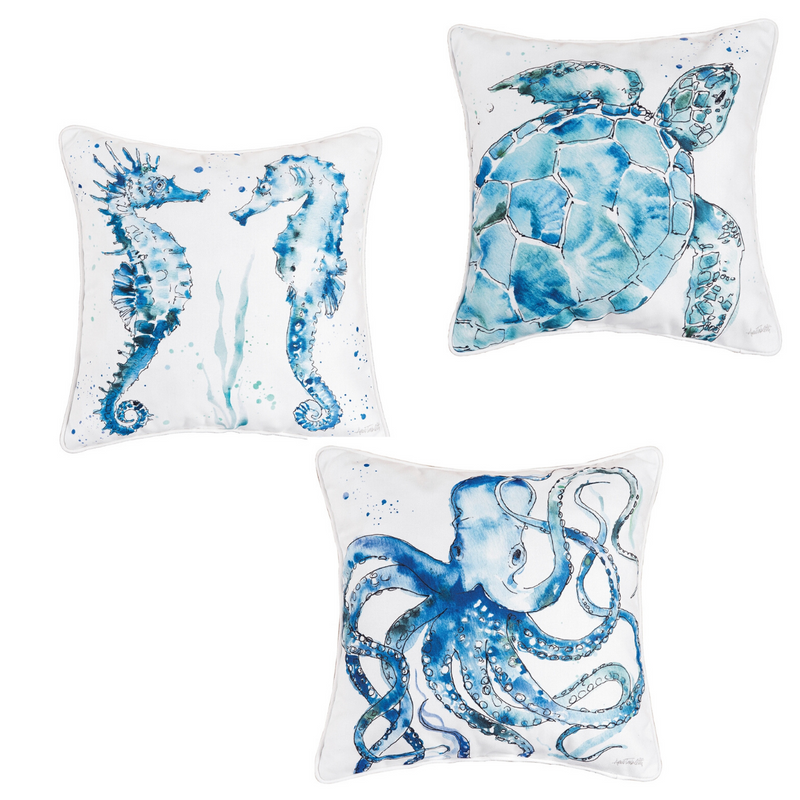 Watercolor Sealife Pillow