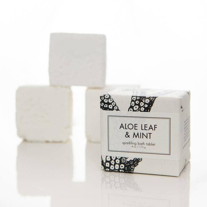 Sparkling Bath Tablets Aloe Leaf & Mint