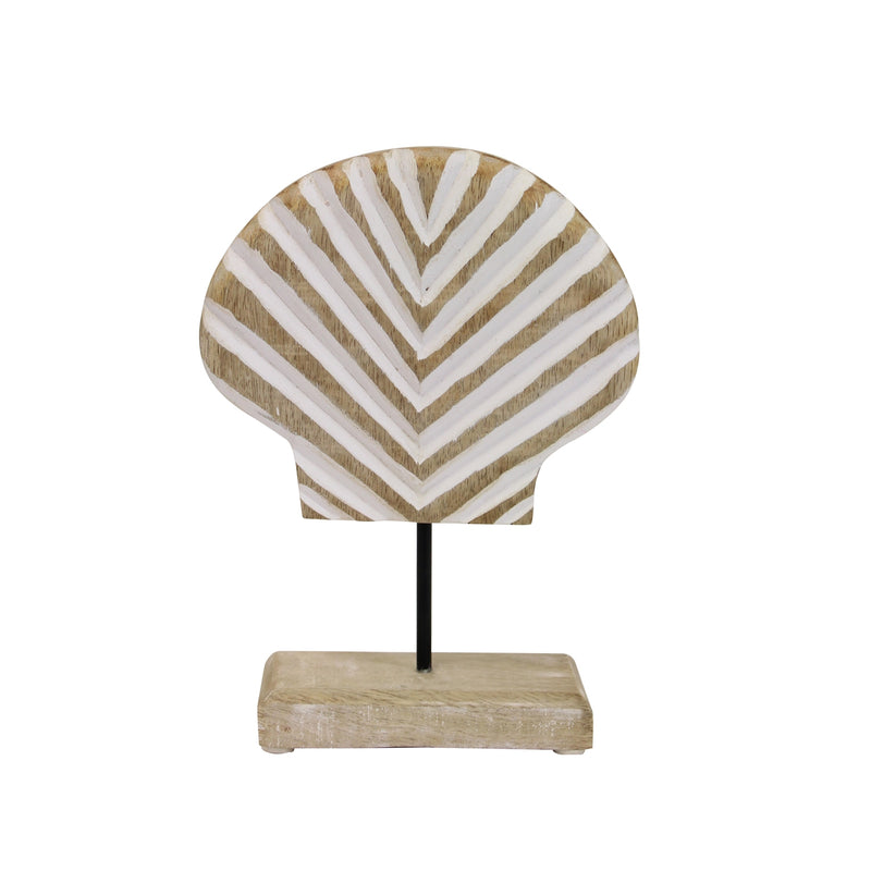 Wood Carved Seashell on Stand