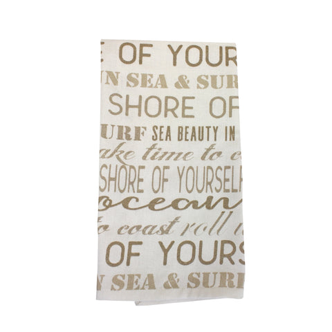 Beach Rules Tea Towel Quotes Puns