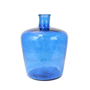 Glass Blue Bottle Vase