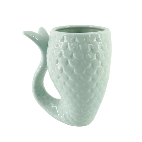 Seafoam Mermaid Tail Vase