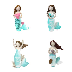 Resin Mermaid with Sentiment