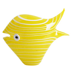 Yellow Stripe Glass Fish